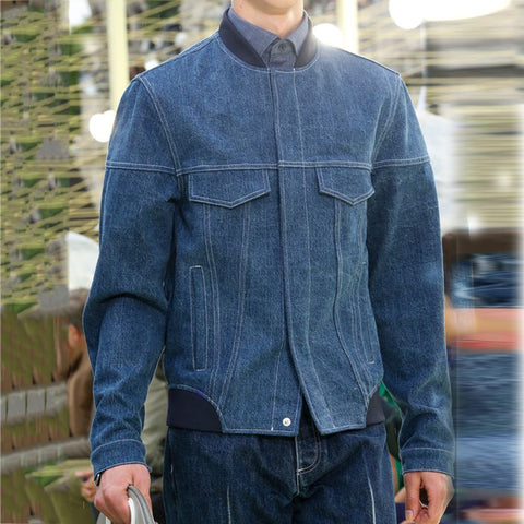 Casual Fashion Single-Breasted Denim Jacket
