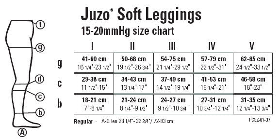 Juzo Soft Tie-Dye Leggings 15-20mmHg