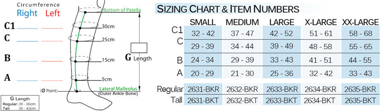 Biacare Chipsleeve-bk size chart