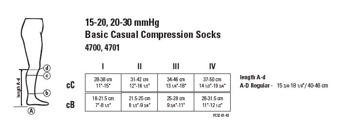 Juzo 4700 Basic Casual Support Socks 15-20mmHg