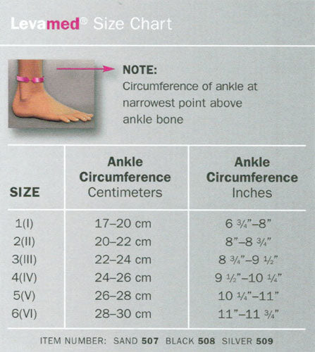Levamed size chart