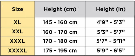 Solidea Personality Plus Size Size Chart