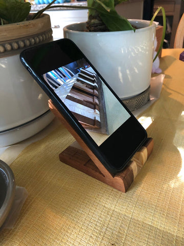 phone stand wooden etsy