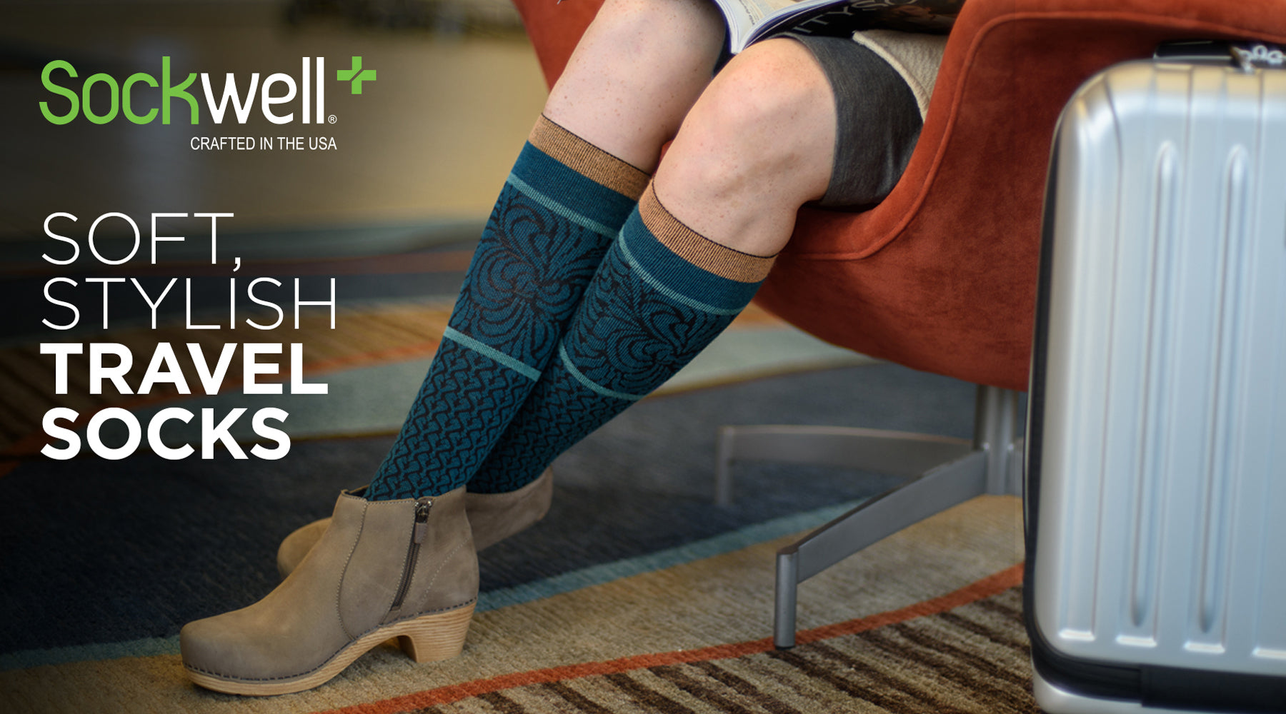 Sockwell Wool Pattern Travel Support Socks