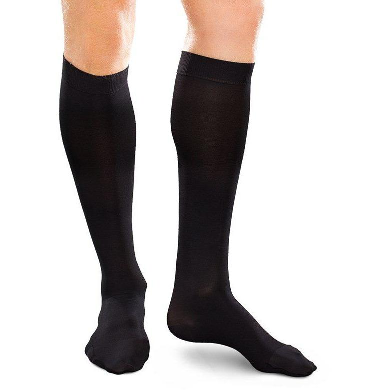 eca63bb261e3b EASE Opaque Unisex Knee High with Silicone Band 20-30 mmHg — BrightLife  Direct