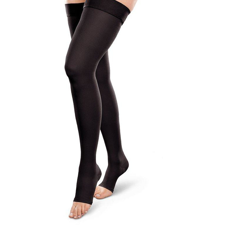 0e604b185 EASE Opaque Open Toe Compression Thigh High 15-20 mmHg — BrightLife Direct