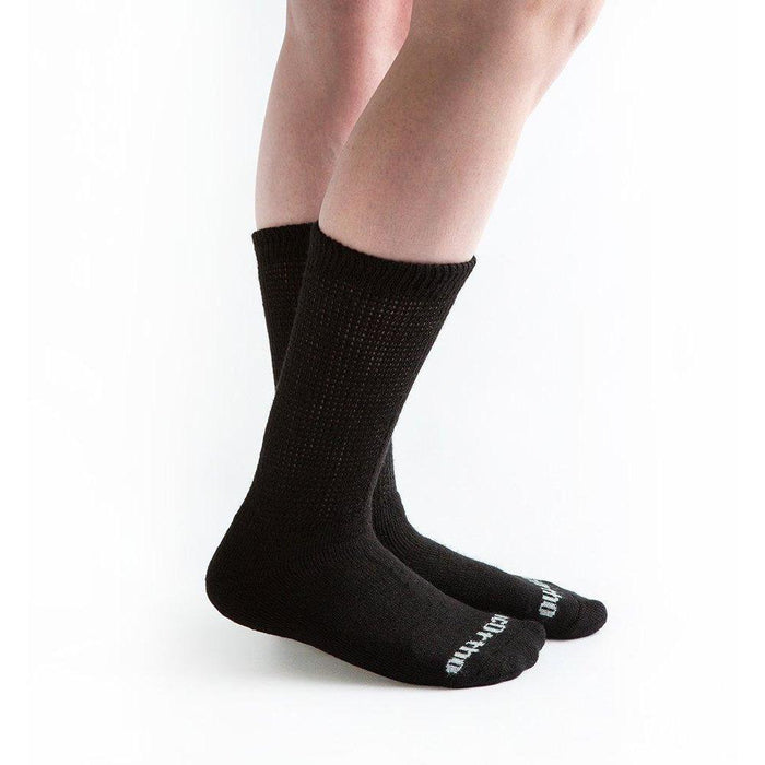 Doc Ortho Ultra Soft Loose Fit Diabetic Crew Socks - 3 Pairs