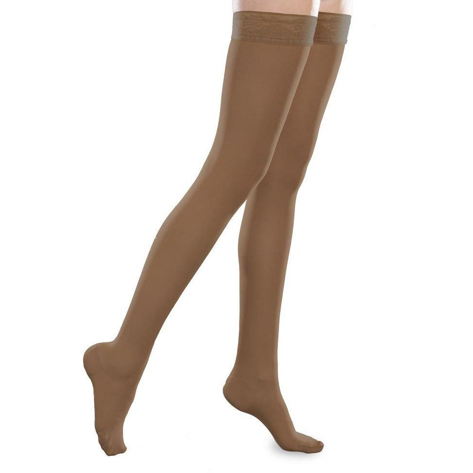 b5f68ff011a32 EASE Sheer Thigh Highs 20-30mmHg by Therafirm — BrightLife Direct