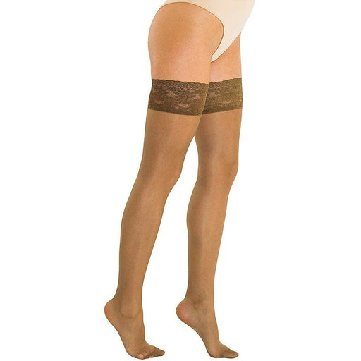 b08a1df3cc Solidea Marilyn 70 Sheer Support Compression Thigh Highs - 12/15 mmHg