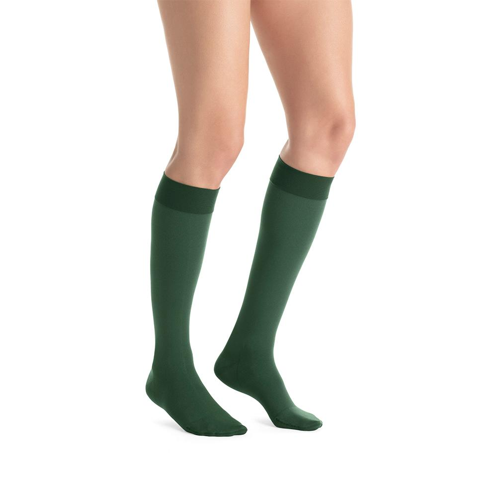 Watercolor Blue And White Plaid Compression Socks For Women 3D Print Knee High Boot