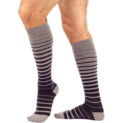 Allegro Italian Cotton Stripe Socks 15-20 mmHg