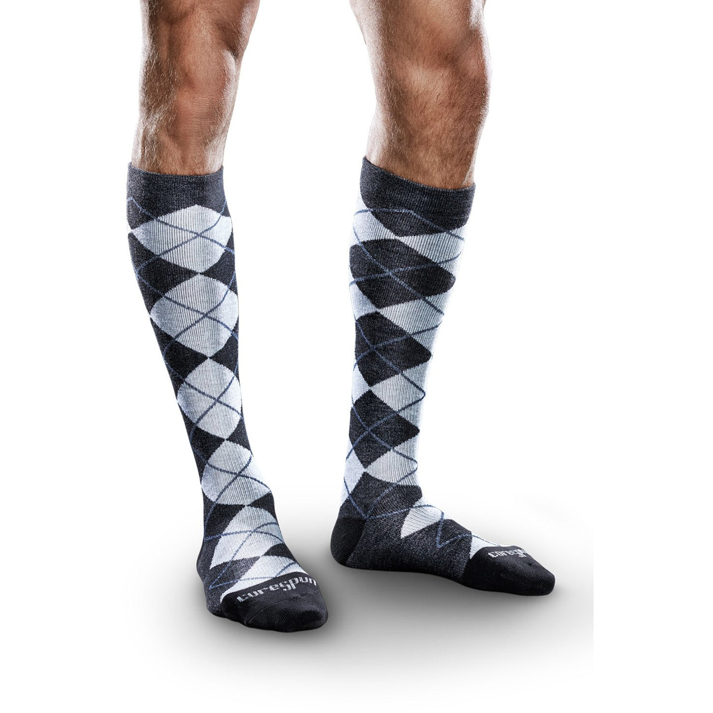 98b657676d Therafirm Core-Spun Argyle Compression Socks 10-15 mmHg for Men and ...