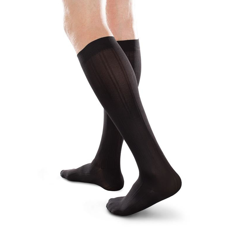 be32e24c909ee EASE Opaque Men's Knee High Compression Socks, 20-30 mmHg — BrightLife  Direct