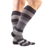 VenaCouture Men's Bold Regency Stripe 15-20 mmHg Compression Socks Graphite