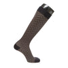 VenaCouture Women's Chevron Socks 15-20 mmhg Compression Socks Black/Natural