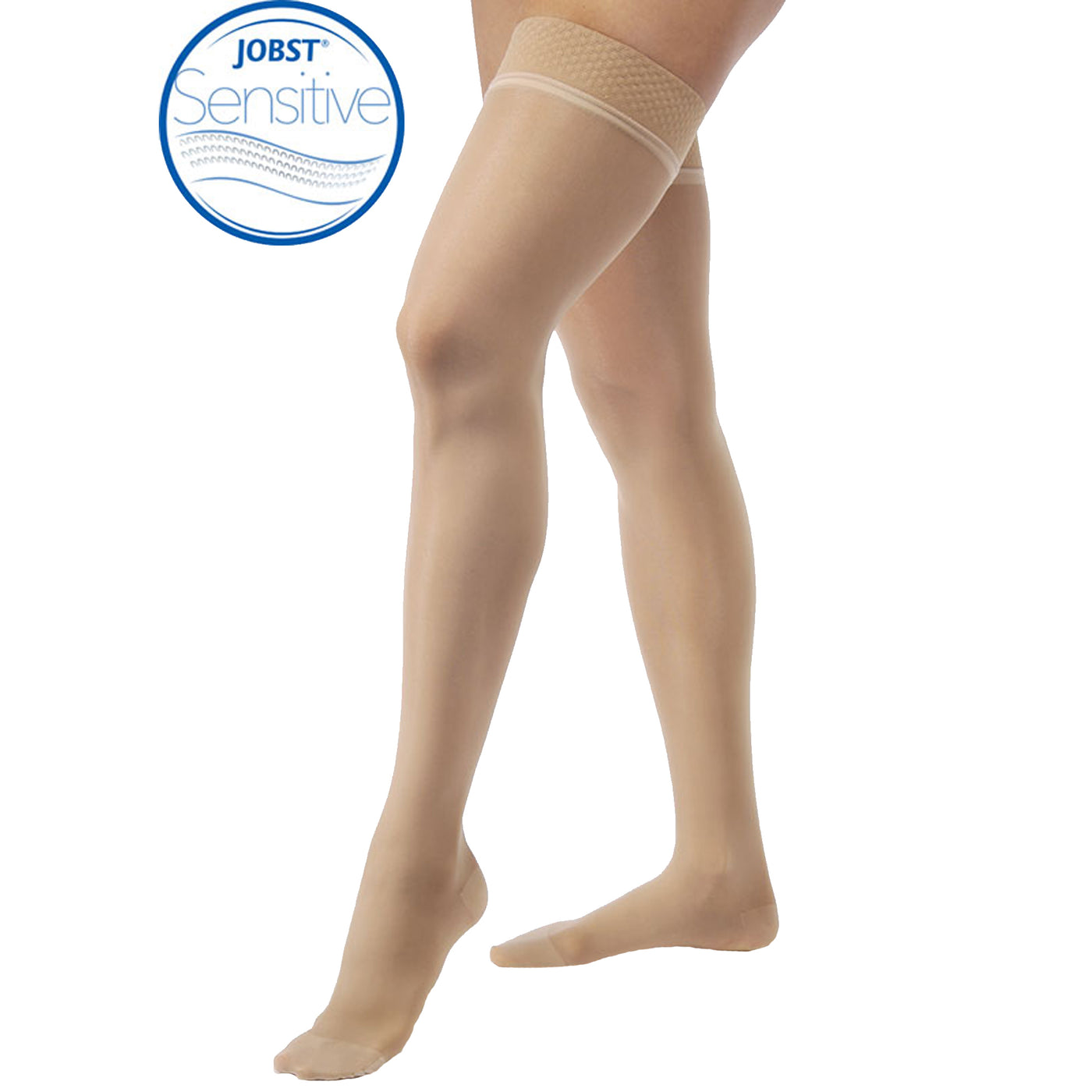 687ccce13 BrightLife Direct. Home Jobst UltraSheer SENSITIVE Thigh Highs 15-20mmHg  Closed Toe. Hover to zoom
