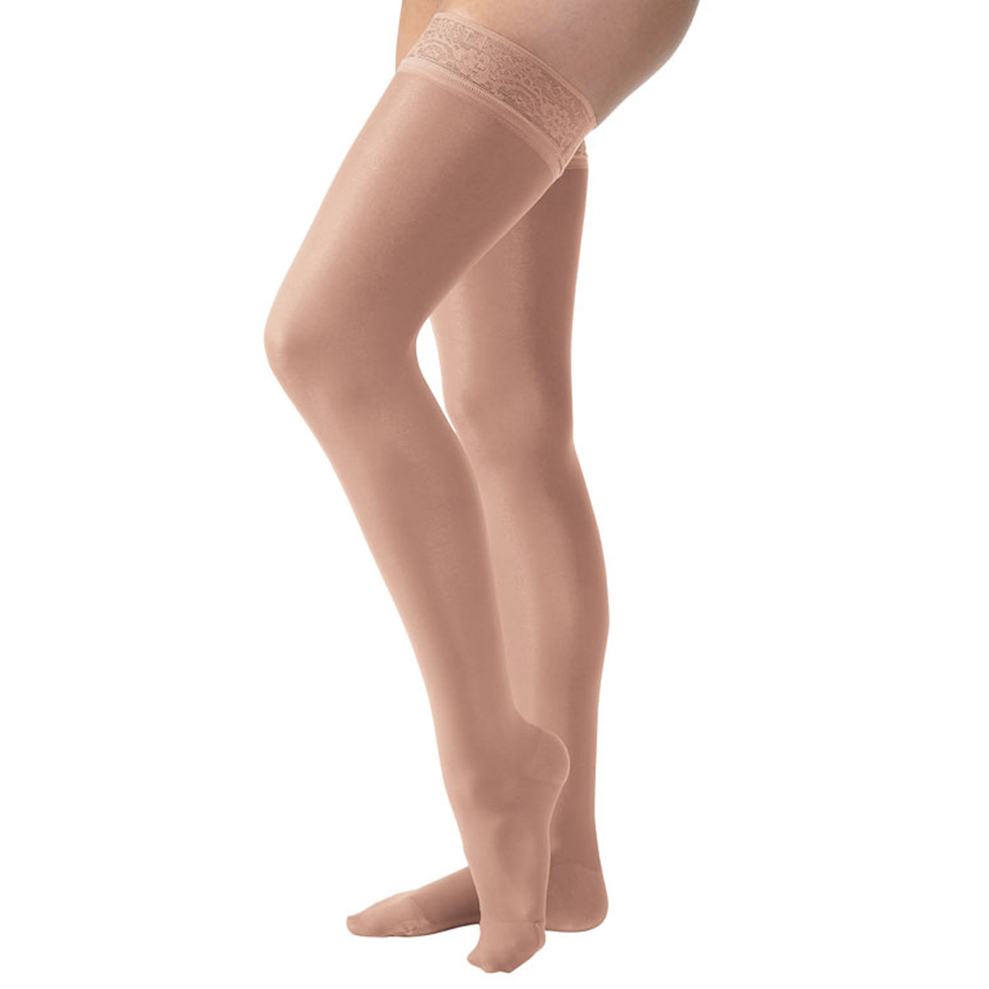 d70f64560 BrightLife Direct · Home Jobst UltraSheer Thigh High 15-20mmHg - Lace Band.  Hover to zoom
