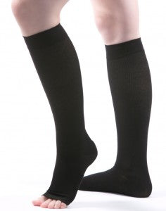 Allegro Premium - Italian Open Toe Cotton Knee Highs 15-20mmHg - # 115