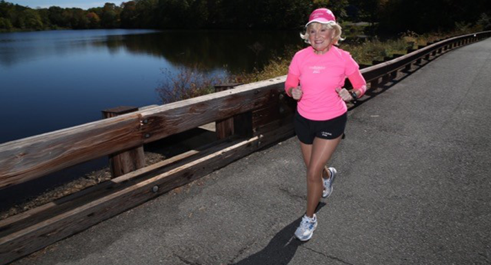Cindy wears compression socks for marathons for this reason.
