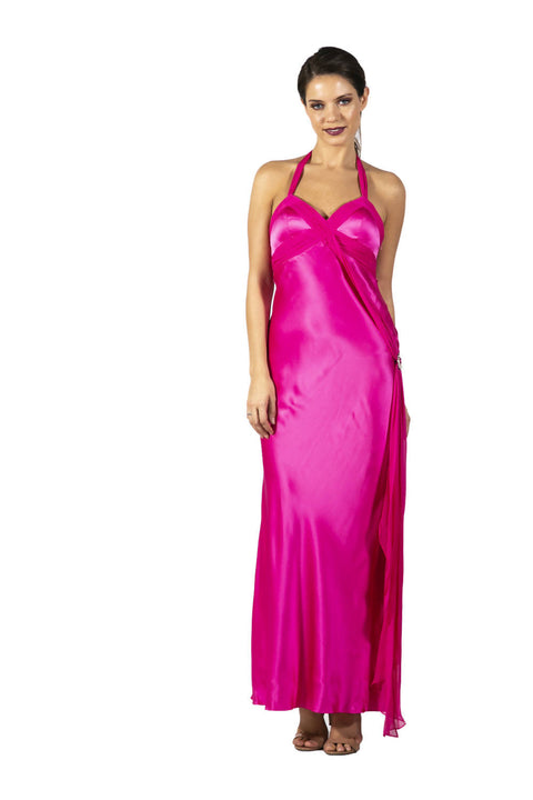 Vestido Rosa Mexicana Largo Joseph M Talla Xs Never The Same