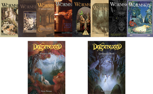 Wormskin vs the In-Development Dolmenwood Hardcover Books