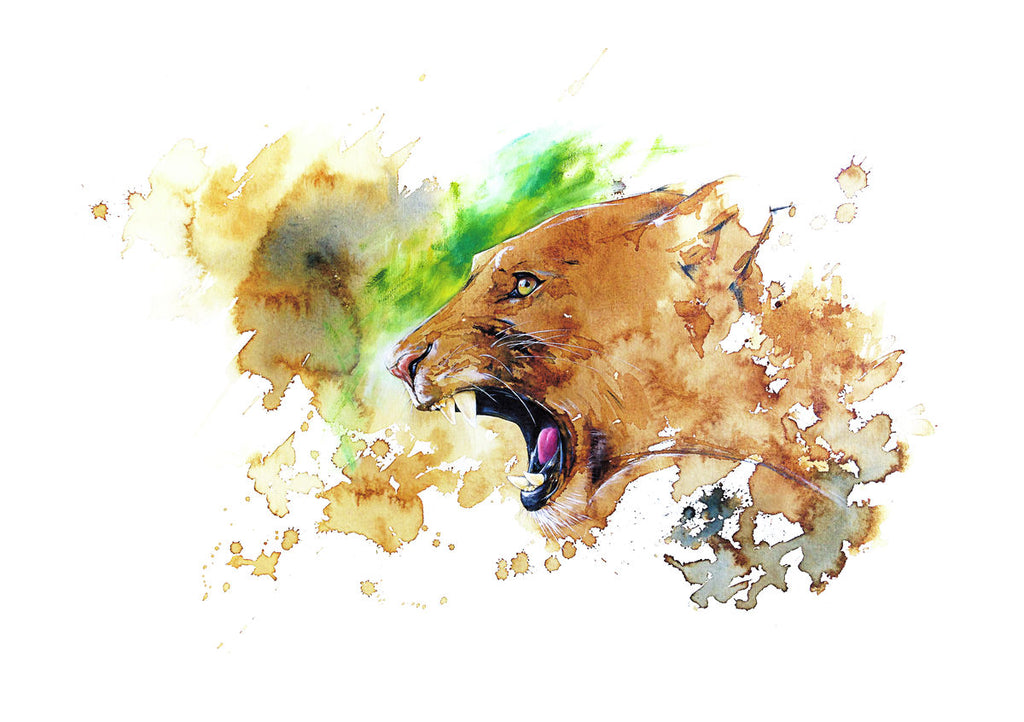 Lioness on Green