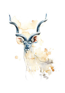 Kudu (original coffee & ink)
