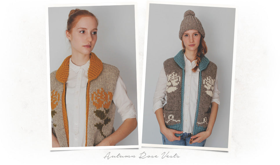 Autumn Rose Vests