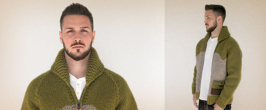 Two Tone Olive Sweater