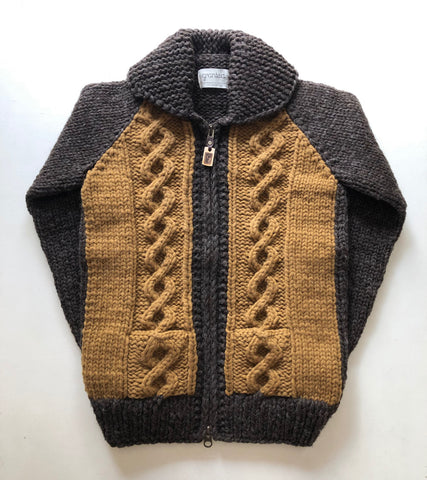 SAMPLE SALE* Stadium Cable Knit Zip - Earth