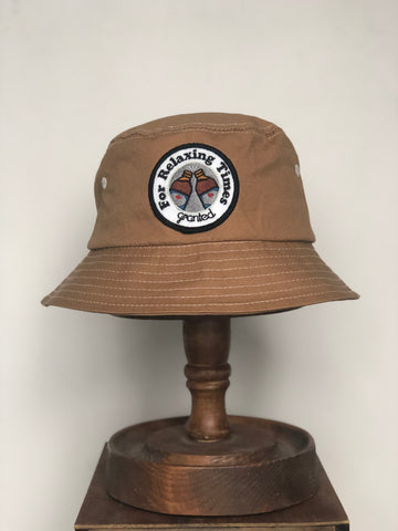 Relaxing times bucket hat - Rust
