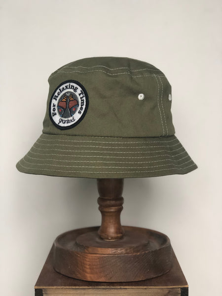 Relaxing times bucket hat - Olive