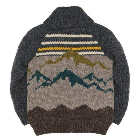 Mountain Range - Charcoal/Olive