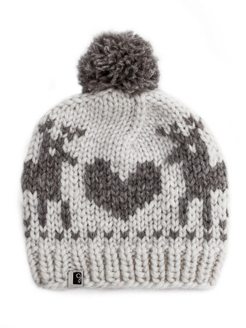 Deer Love Toque - White