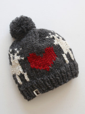 Deer Love Toque - Charcoal