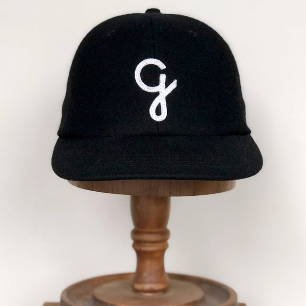 G melton wool cap - Black