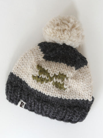 Kids Toque - Charcoal/Olive
