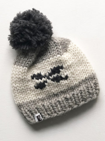 Kids Toque - Natural/Charcoal