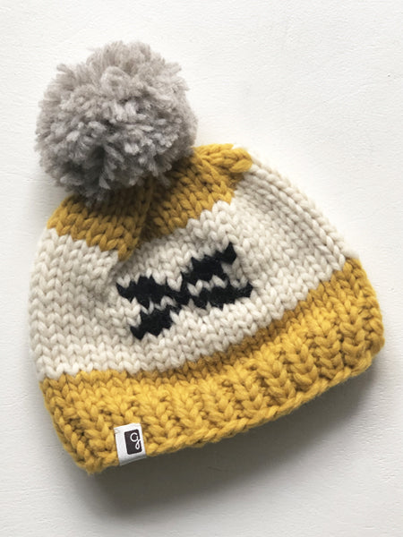 Kids Toque - Mustard/Black