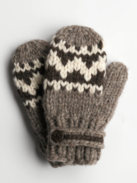Mittens with Strap - Natural