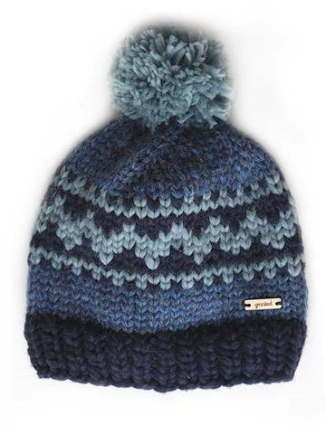 Oak Motif Toque - Indigo