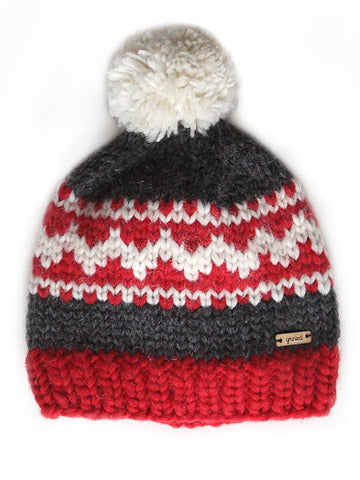 Oak Motif Toque - Red