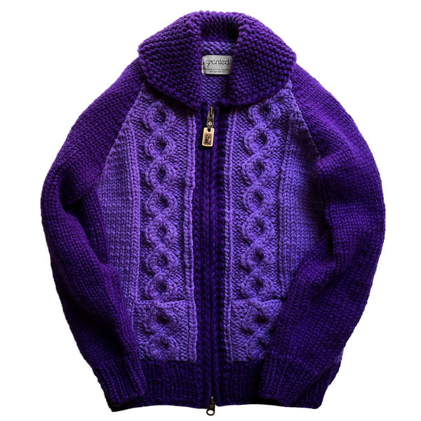 Stadium Cable Knit Zip - Lavender