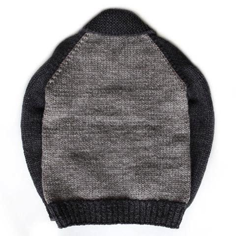 Stadium Cable Knit Zip - Grey