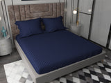 Plain Stripe solid Colour King Size Bedsheet