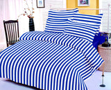 Dealon 100% Cotton 1 Double 90x100 Inch Bedsheet with 2 Pillow Covers