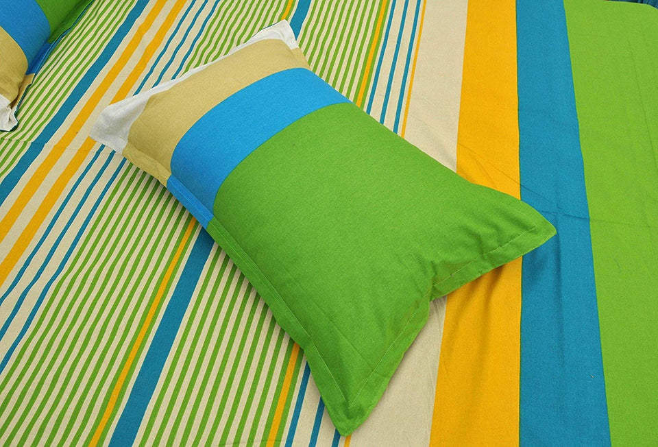 Dealon  100% Cotton Double 90x100 Inch Bed sheet with 2Pillow Covers.