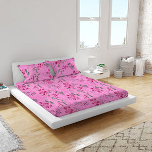 Dealon  Double 90x100 Inch Bedsheet with 2 Pillow Covers