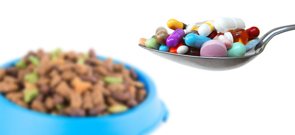Synthetic vitamins in dog food