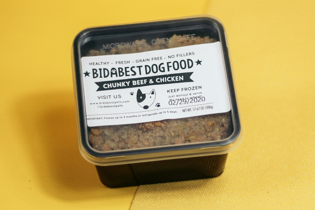 BidaBest Healthy Chunky Beef & Chicken Dog Food